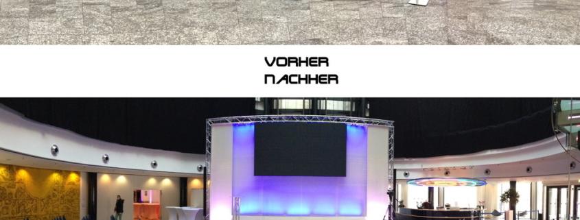 Bühnenbau, Firmenevent